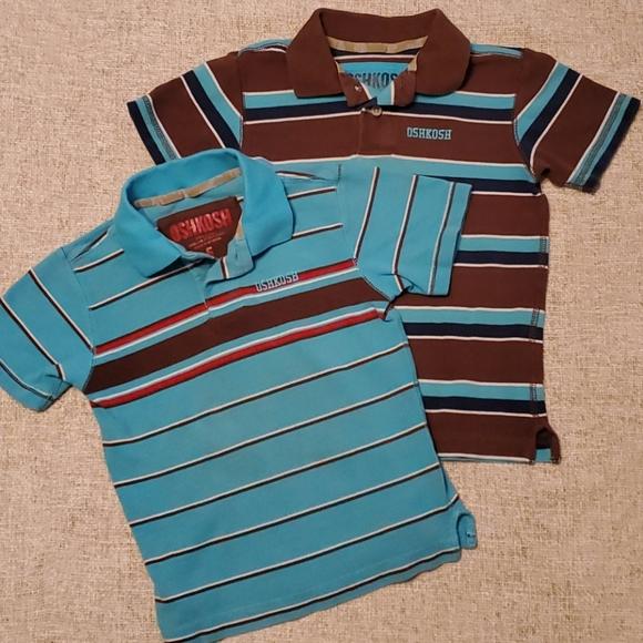 OshKosh B'gosh Other - Oshkosh Boys 5 Brown light Blue Polo short sleeve